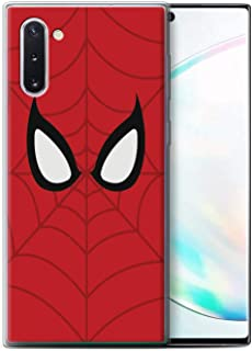 eSwish Gel TPU Phone Case/Cover for Samsung Galaxy Note 10/5G / Spider-Man Mask Inspired Design/Super Hero Comic Art Collection