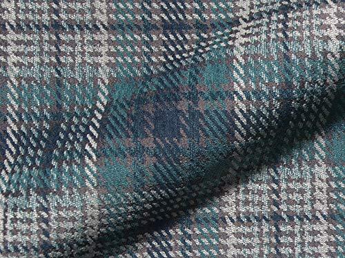 Joop! Stoff Polsterstoff Möbelstoff Bezugsstoff Meterware für Stühle, Eckbänke, etc. - Scottish Blau Kariert