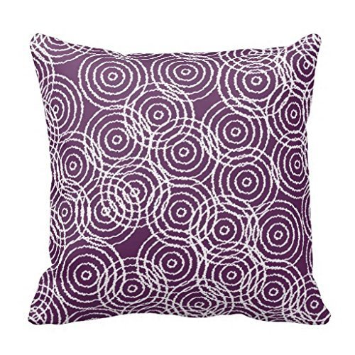 Colorful products Plum Purple Ikat Overlap Circles Geometric Pattern R48b2ea72a9e1456b9d4e1327959302a7 I5fqz 8byvr Pillow Case 18' * 18'