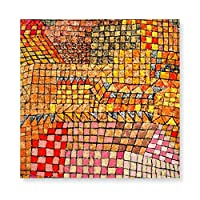 INOV パウルクレー 芸術: 町 城 絵画・壁掛けアートパネル モダン 玄関 リビングルーム/ベットルーム店舗内装/プレゼントに取り付け簡単