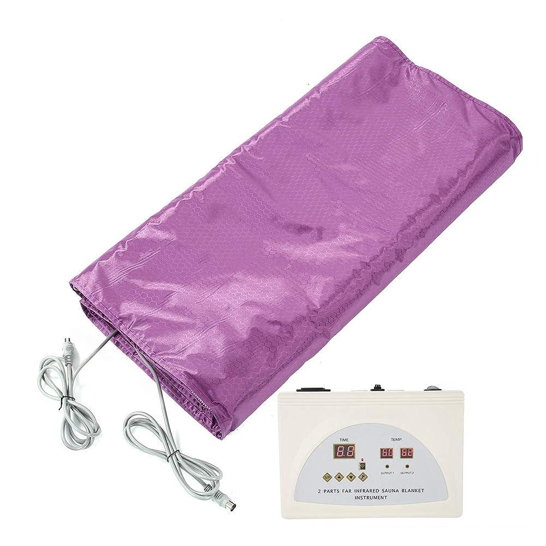 受動的乙女申込みSemmeデジタル赤外線スチームブランケット、加熱サウナスパボディシェイパー痩身ツール用個人アンチエイジング軽減物理的疲労(UK Plug)