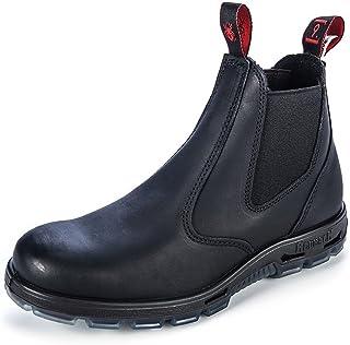 RedbacK Men's Work Boots UBBK Black Easy Escape Chelsea Bobcat Slip On Non Steel Toe