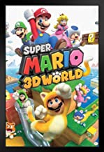 Pyramid America Super Mario 3D World Nintendo Black Wood Framed Art Poster 14x20