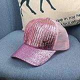 wtnhz Artículos de Moda Sombrero para niños Gorra de Red con Brillo Arrugado de Verano Sombrero de Red para Padres e Hijos Sombrero de Sol Mate con Brillo para mujerRegalo de Vacaciones