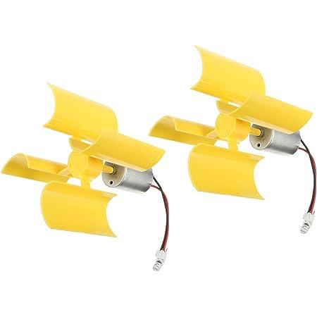 BYARSS Vertikal windrad windgenerator,DIY Kit Kleine Motoren Vertikale Windturbinenbl/ätter Brise Stromgenerator Motor Windturbinen mit Bl/ättern