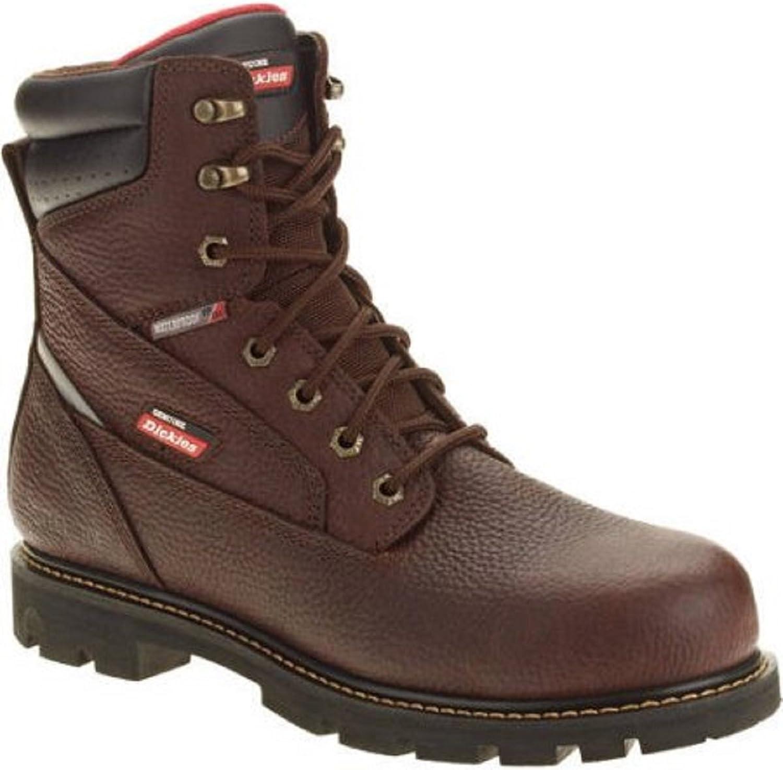 Dickies Genuine Men's JobRated Brawn Waterproof Work Boot Size 7.5 Dark Brown
