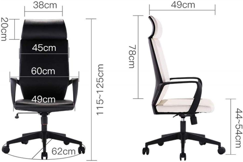 Home Office Chaie Jeux Chaise Bureau Ordinateur de Travail Président Patron Président élévatrices Rotary Unitary ménages Chaise en Cuir portantes 200 kg (Color : White) White