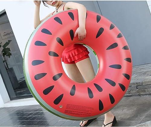YXLZZO Erwachsene Schwimmring Verdickung aufblasbare Wasserspielzeug unter dem Ring Wassermelone Schwimmring Innendurchmesser 38cm zu erh n Aufblasbares Kajakfüren