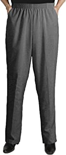 Women's Plus Size Elastic Waist Pull-On Shaped Fit Dress Pants with Pockets
