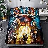 AQEWXBB Guardians of The Galaxy Guardians of The Galaxy - Juego de ropa de cama infantil (3,135 x 200 cm + 50 x 75 cm x 2 cm), diseño de Guardianes de la galaxia