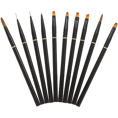 10stk Malerei Liner Stift Feine Nail Art UV Gel Schlepper Pinsel Bürste-Maniküre