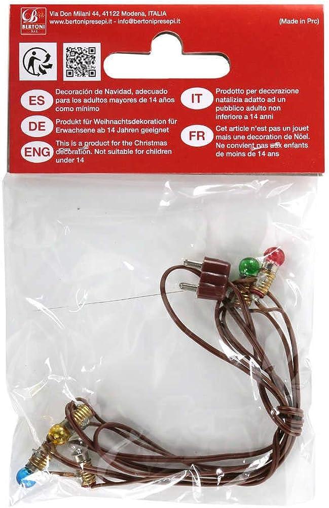 Ferrari & arrighetti serie di 5 piccole lampadine colorate,accessorio per presepe Bertoni_N52