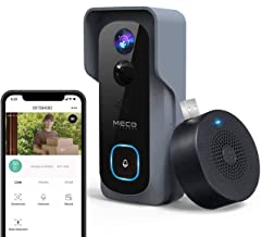 【32GB Preinstalled】WiFi Video Doorbell,MECO 1080P Doorbell Camera with Free Chime, Wireless Doorbell with Motion Detector,...
