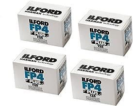 Four Pack of Ilford FP4 Plus 35mm Black & White Negative Film 36 Exp