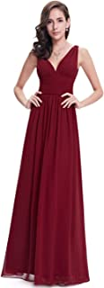 Ever-Pretty Sleeveless V-Neck Semi-Formal Maxi Evening Dress 09016