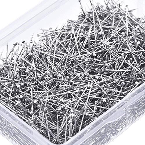 Head Pins Fine Satin Pin Schneiderin Pins für Schmuckherstellung, Nähen und Handwerk, Edelstahl, 1 1/ 16 Zoll (4000 Stücke)