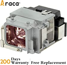 ELPLP65 Projector Lamp with Housing for Epson EB-1760W 1761W 1751 1771W /PowerLite 1776W /PowerLite 1761W /PowerLite 1771W 1750 1775W Replacement Lamp by Araca