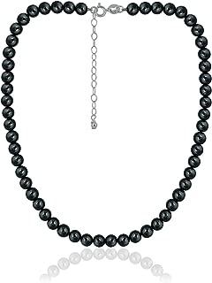 Precious Gemstone 6mm Round Beads Necklace 14