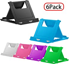 YENIE Desktop Cell Phone Stand Holder, Portable Universal Desk Stand for All Mobile Smart Phone Tablet Display (6 Mixed Colours)