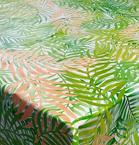 DecoHomeTextil Wachstuch Wachstischdecke Tischdecke Gartentischdecke Bambus Rio Grün Breite & Länge wählbar 110 x 150 cm Eckig abwaschbar Lebensmittelecht