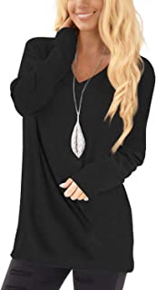 Tunic Tops for Leggings for Women Long Sleeve V Neck T...