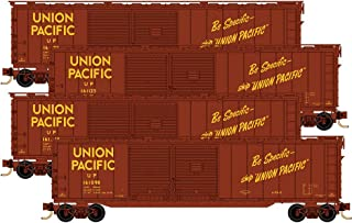 Micro-Trains MTL N-Scale 50ft DD Box Cars Union Pacific/UP - Runner 4-Pack