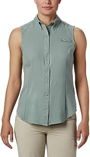Columbia Women's PFG Tamiami Sleeveless Shirt, UV Sun Protection, Moisture Wicking Fabric