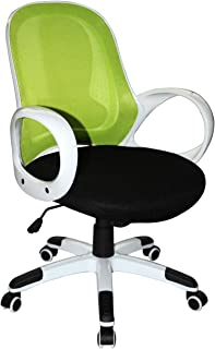 Boraam Nelson Adjustable Modern Office Chair, Lime Green & Black, One Size