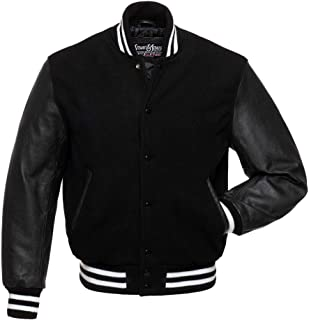 black and gray letterman jacket