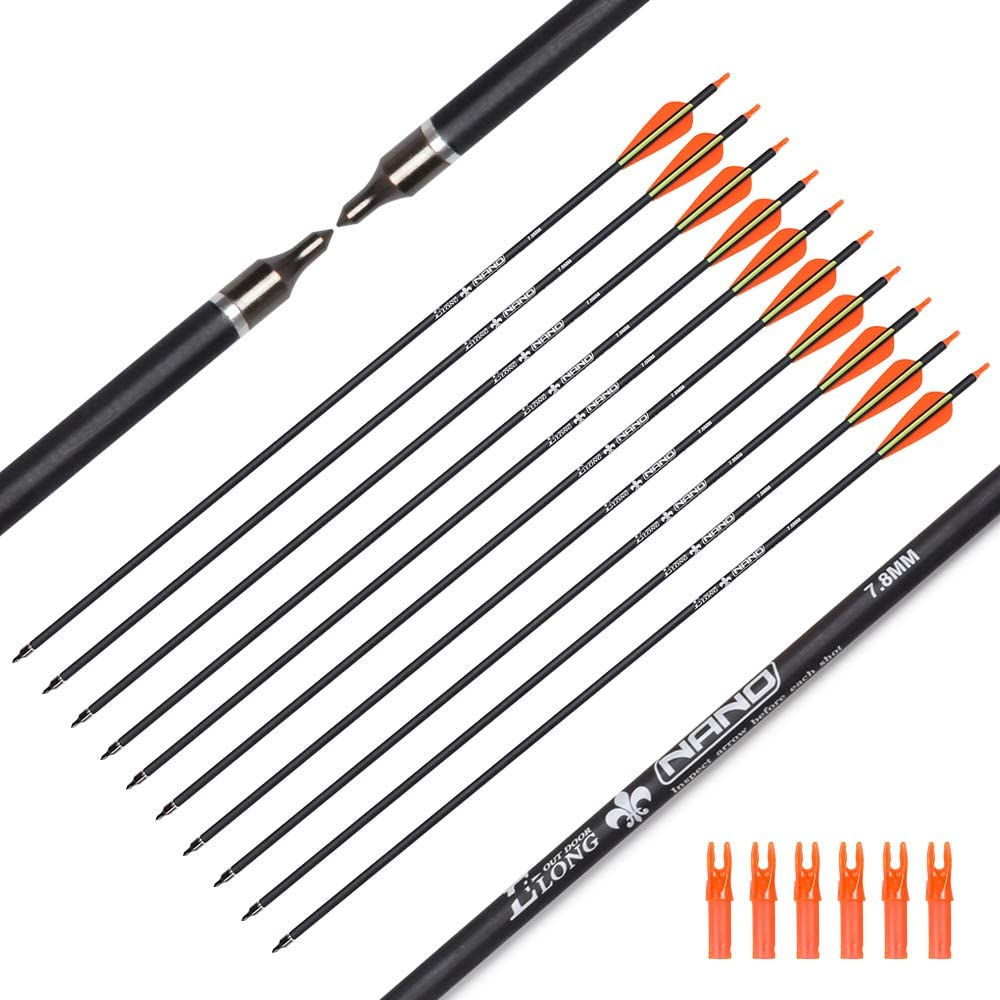 Hunter Ian Archery Carbon Arrow Hunting 28 30 wit Arrows 26 Price reduction Inch Ranking TOP18