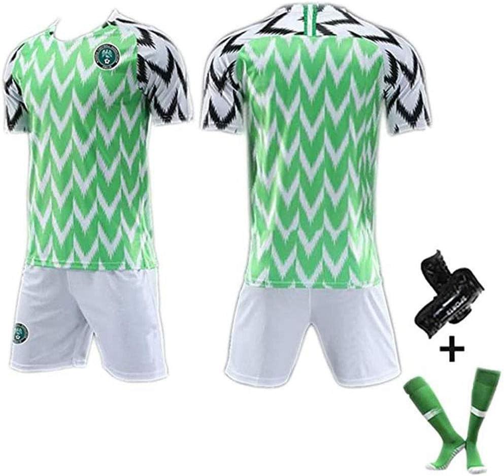 Ropa Deportiva c/ómoda fan/áticos Camiseta de f/útbol para Hombre # 7# 10# 18 Camiseta de la Copa Mundial de Nigeria 2018