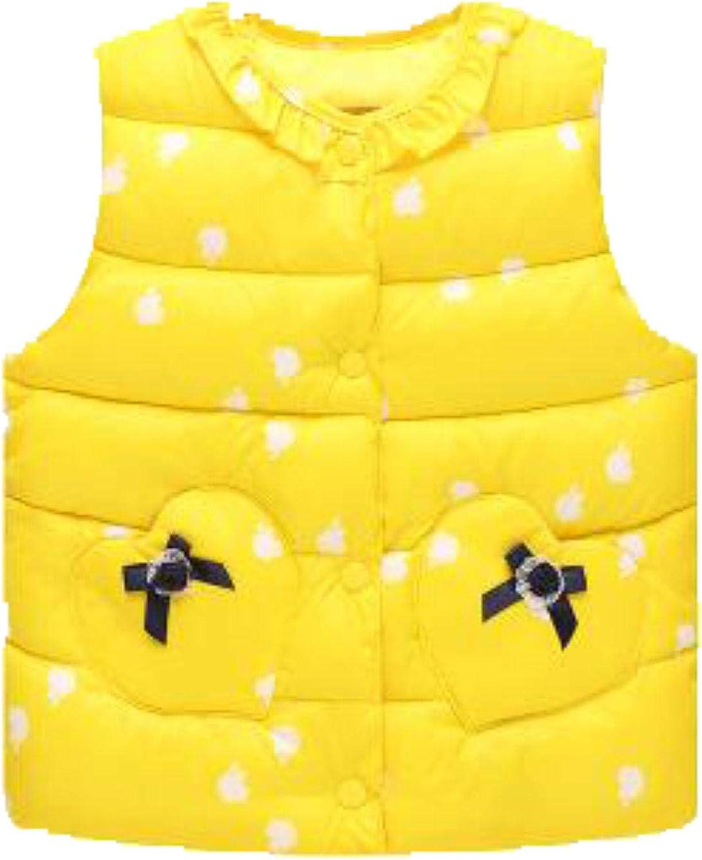 Kids Down Coat Girl Vest Cotton Warm Vest Children ,yellow,2T