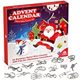 Coogam Metal Wire Puzzle Toys Advent Calendar, 2021 Christmas Countdown Calendar Decoration Gift Box...