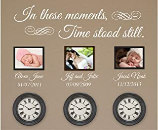 N.SunForest in These Moments Time Stood Still Wall Decal Vinyl Wall Art Decal
