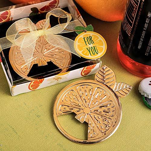 FavorOnline Citrus Wheel Gold Tropical Bottle Openers, 18