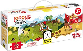 Banana Panda Looong Puzzle Stables - Large Floor Jigsaw Puzzle for Kids Ages 3 Years & Up