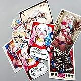 CARKOCI Adesivo Suicide Squad Harley Quinn per Adesivi per Laptop per Auto per Bagagli, Skateboard, 14 Pezzi/Lotto