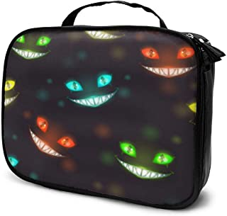 Cosmetic Bag Scary Halloween Night Creepy Travel Makeup Bag Anti-wrinkle Cosmetic Case Multi-functional Storage Bag Large Capacity Makeup Brush Bags Travel Kit Organizer Women's Travel Bags
