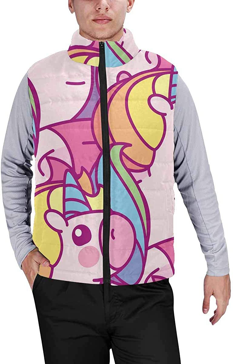 InterestPrint Men's Soft Stand Collar Jacket for Fishing Hiking Cycling Rainbow Fish Swimming in Coral Reefs