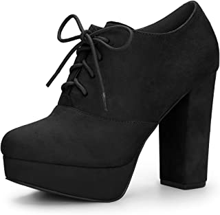 Women's Platform Chunky Heel Lace Up Boots