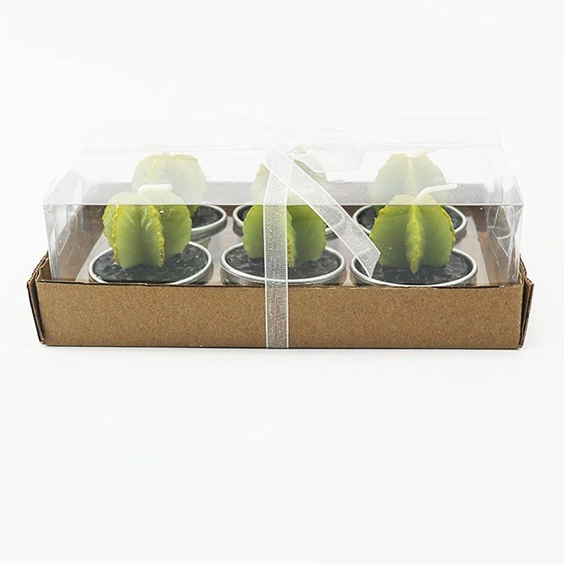 評価する嫌がらせ内陸Liebeye キャンドル 多肉植物スモークフリーのクリエイティブなキャンドル100%自然のワックスかわいい模造植物フルーツの形状低温キャンドル 6個/箱 ゴレンシボックス