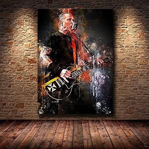 AJleil DIY Pintar por números Celebrity Pop Art Rock Band Lienzo Imagen Graffiti Retrato Pintura Pintar por numeros para Adultos y ninos con Pincel y Pintura acrílica para adult40x60cm(Sin Marco)