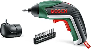 Bosch IXO Cordless Screwdriver (Integrated 3.6 V Lithium-Ion Battery and Right Angle Adapter)