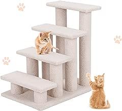 PETSJOY Pet Stairs Ramp for Dog & Cat, Steady Pet Climber Steps Cat Tree for Puppy Kitten