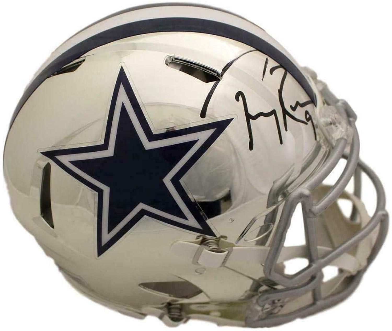 Signed Tony ROMO Helmet  Chrome Replica BAS 22475  Beckett Authentication  Autographed NFL Helmets