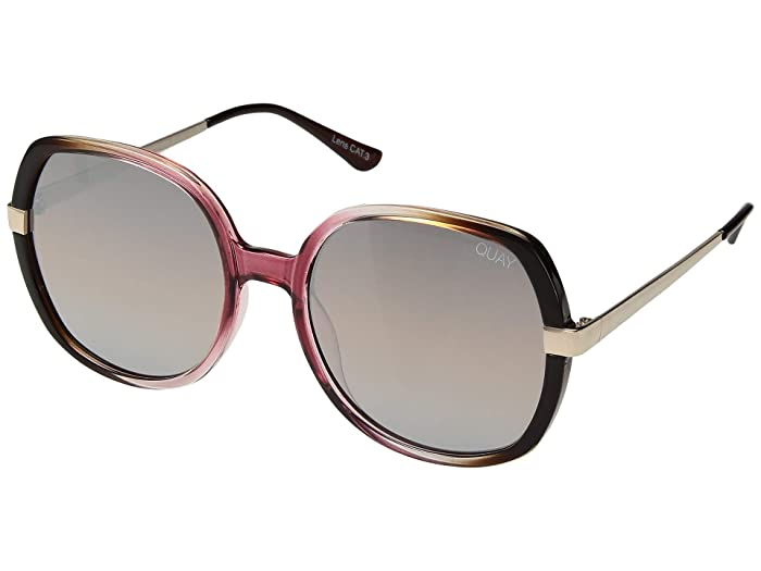 Chrissy X Quay Gold Dust (Toffee Pink/Brown) Fashion Sunglasses