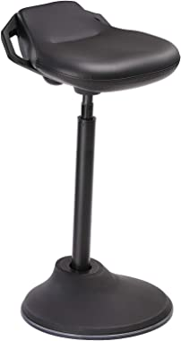 SONGMICS Standing Desk Chair, Swivel Ergonomic Standing Stool, Adjustable Height 23.6-33.3 Inches, Sitting Balance Chair Offi