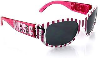 Disney - Violetta - Gafas de sol para niña, blanco/rosa a rayas