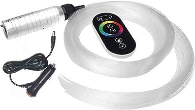 RGB 6W LED Fiber Optic Star Ceiling Kit DIY Light Source Device RF Remote 0.75mm*2m *150pcs