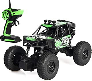 Rc Cars for Kids Remote Control Car, 2.4G 1:20 RC 10 km/h Double-Wheeler Metal Frame Truck Car Remote Buggy by Fulijie (Green)